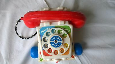Vintage Fisher Price Chatter Phone Telephone W/Moving Eyes Vintage 1985 USA