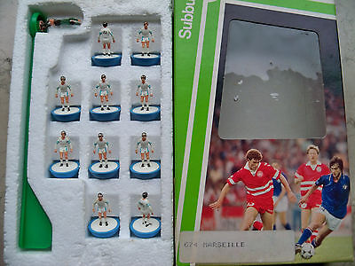 Subbuteo Team Marseille Lw Ref N.674 Players & Ref Box In Very Good Conditions