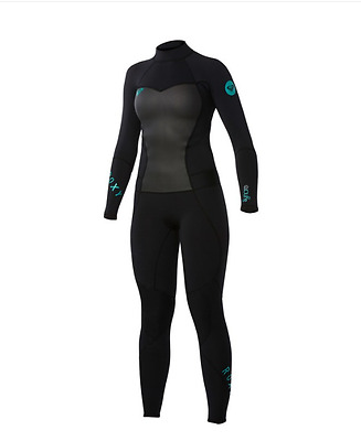 NEW Quiksilver Roxy Womens Black 3/2 Full Back Zip Wetstuit