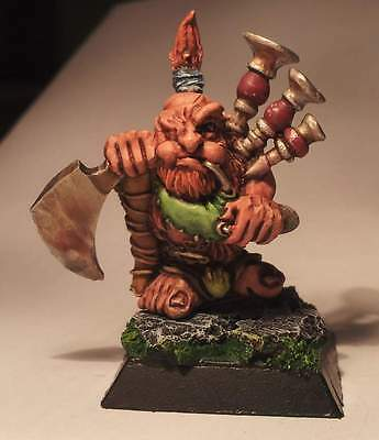 Rare OOP Confrontation - Tir Na Bor Dwarf Musician -  perfectly painted
