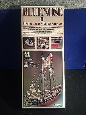 Vintage 1985 ARTESANIA LATINA 1:75 WOODEN Model SCHOONER SHIP BLUENOSE II New