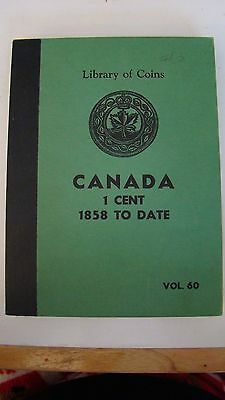 Extra Rare Vintage Library Of Coins Vol 60 Canadian  Cent 1858-