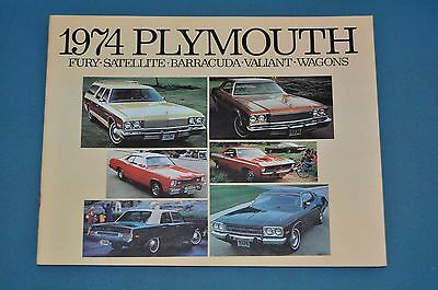 1974 Plymouth Fury Satellite Barracuda 'Cuda Valiant Sales Brochure NOS Canadian