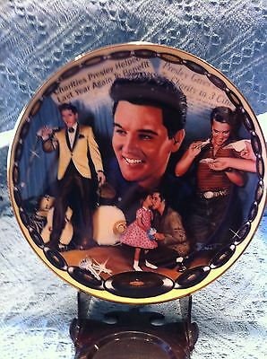 """New 1994 Musical Tribute To Elvis The King """"love: The Greatest Gift"""" Plate"""