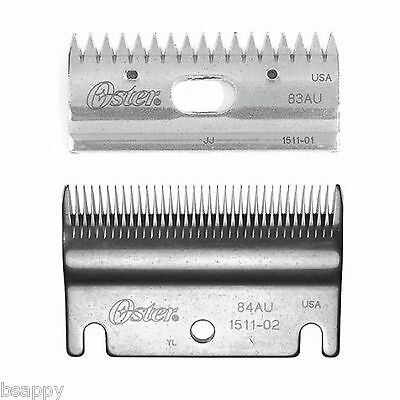 NEW OSTER Clipmaster BLADES 84/83AU Horse Clipping Grooming Includes Free Sharpe