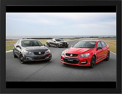 """2017 HOLDEN COMMODORE DIRECTOR REAR A1 CANVAS PRINT POSTER FRAMED 33.1/""""x20.7/"""""""