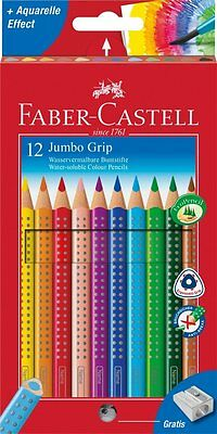 Faber-Castell Jumbo Grip Colour Pencil (Pack of 12)