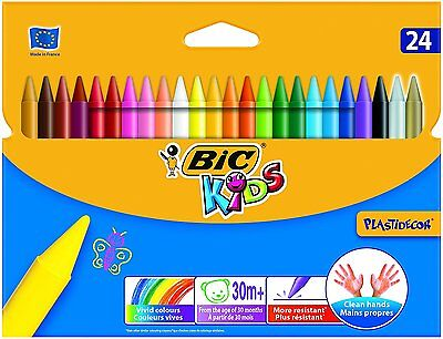 BIC Kids Plastidecor Colouring Crayons, Pack of 24