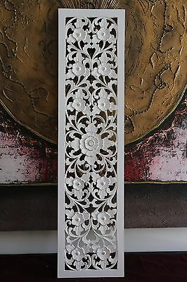 NEW Balinese White Washed Wall Panel - Bali Wall Art, Plaque, Hanging STUNNING!!