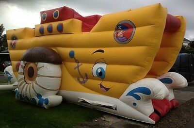 Bouncy Castle Pirate Ship Slide