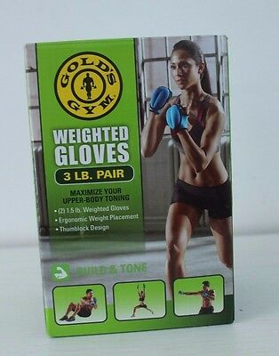 New Gold's Gym Weighted Gloves 3LB Pair