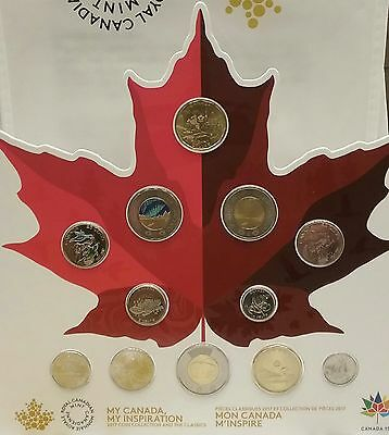 2017 Canada150th Uncirculated 12Coin Set WORLD'S 1ST CLASSIC V.S. WINNING DESIGN