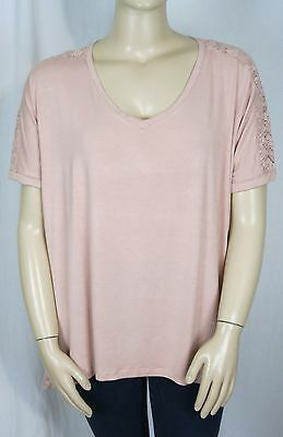 BNWT PATCH MATERNITY Size L (14) Short Sleeve Lace Detail Top