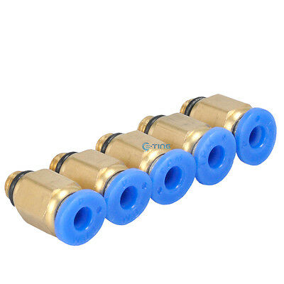 10 Pcs 5mm Male Thread 4mm Push to Connect Pneumatic Quick Fittings PC4-M5 US