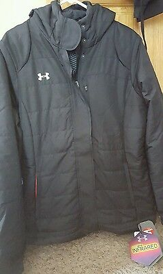New womens Under Armour coat black with tags msrp 199.99