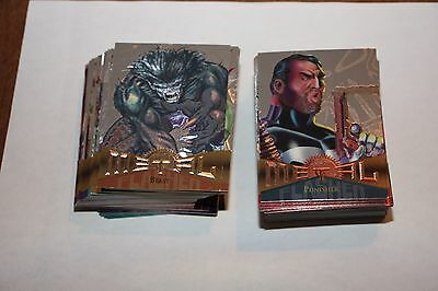 1995 Marvel Metal Complete Parallel Silver Flasher Chase Insert Set