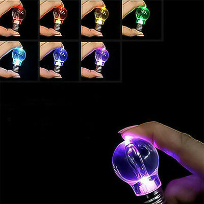 Hot Popular Charming LED Light Lamp Bulb Change Colors Key Chain Gift