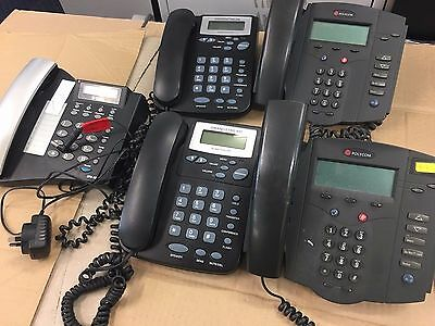 5 x various VOIP IP Ethernet phones - network