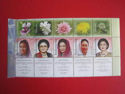 INDONESIA :  5 FIRST LADIES OF INDONESIA (Cpl,MNH)