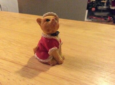 Orange Tabby Cat In Santa Outfit Figurine From The Humane Society