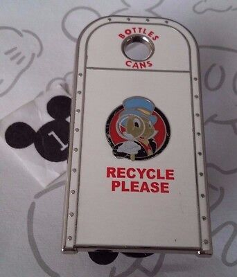 Jiminy Cricket Condor Flats DCA Recycling Bin Garbage Trash Can WDI Disney Pin