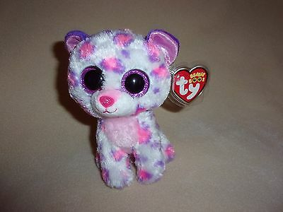 """Ty Mint Serena The Snow Leopard Beanie Boo- 6"""" Beanie Boos- Justice Exclusive"""