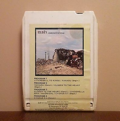 RUSH ~ A Farewell To Kings 8-track (Anthem, 1977) VG+