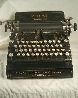 Antique Royal Standard No 1 Typewriter  Serial #47117