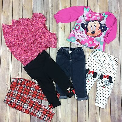 Lot Of Girls Toddler Clothes Size 12T Disney Garanimals And More