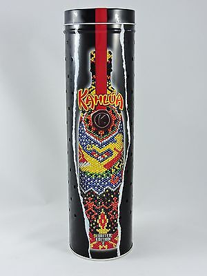 KAHLUA metal tin canister Lights Up Limited Edition 2 Holds 750mL bottle 12.5-in