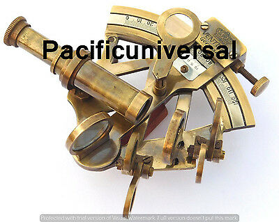 Solid Brass Nautical Sextant Vintage Maritime Navigation Ship Gitf Instrumant.