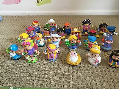 23x Fisher Price Little People Baby Jesus Christmas Nativity, King, Fairy, Bride
