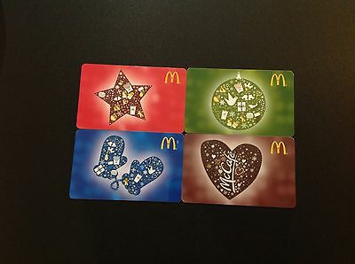 Mcdonalds Christmas  Canada Gift  Card / Arch Card - Set Of 4 Pcs - New