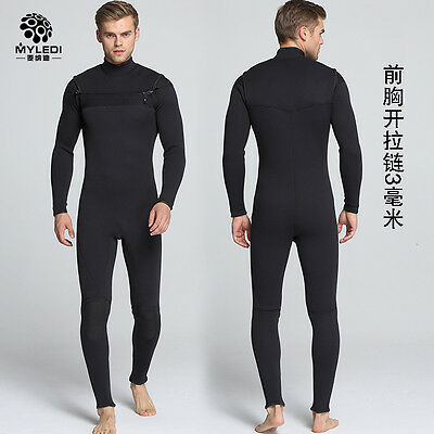 Chest Zipper 3mm wetsuit for Men Surfing and Diving