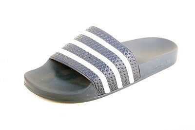 3f3600cea ADIDAS Adilette Men s 12 Blue White Three Stripe Slides Made In Italy SOLD  OUT