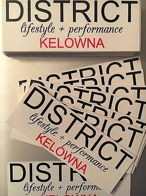 District Label Stickers