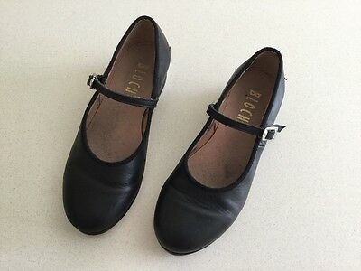 Girl's black Bloch tap shoes size 13.5