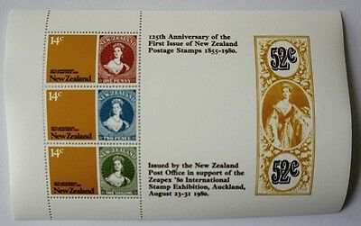 NEW ZEALAND 125TH Anniversary Postage stamps souvenir sheet MNH