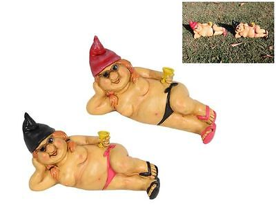 Nude Lady Garden Gnome With Black Thongs  - Funny Rude Naked Garden Gnome