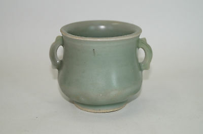 A rare Song dynasty longquan celadon cerser with two ears.