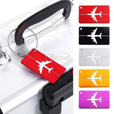 Set of 2 Aluminum Engraved Personal Luggage Sports Golf BackPack Tag 5 Colors