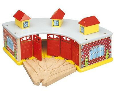 Large Train Engine Shed  - Compatible with Brio & Thomas - for wooden train set