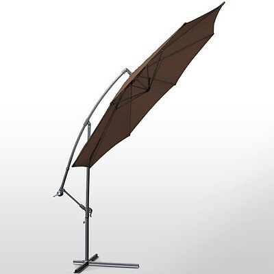 3.5m Brown Cantilever Parasol with Hand Crank Great For Shade