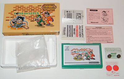 NINTENDO GAME & WATCH - BOMB SWEEPER - Multi Screen 1987 - BOXED -