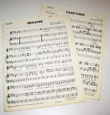 2 x Partitions vintage sheet music  PATRICK ABRIAL : Together + 1 * 70's
