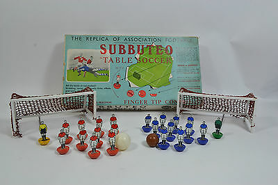 SUBBUTEO TABLE SOCCER VINTAGE 1950S or 1960s PLUS LOTS OF PAPERWORK