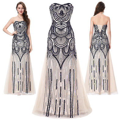 Womens Wedding Evening Gown Formal Cocktail Bridesmaid Prom Party Long Dress 16