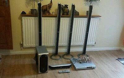 Lg 5+1 Home Theatre Sound System Silver 100 Watts Used