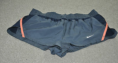 Nike Dry Fit Running  Shorts Women Size L Grey
