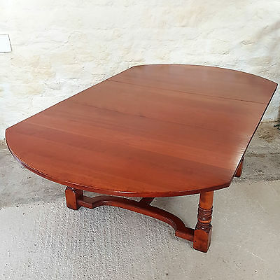 Antique Style Large D-End Mahogany Extending Dining Table (Titchmarsh & Goodwin)